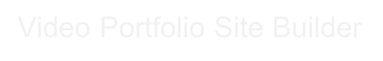 Video Portfolio Site Builder
